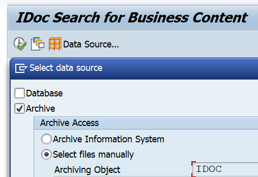 IDOC SAP ARCHIVE