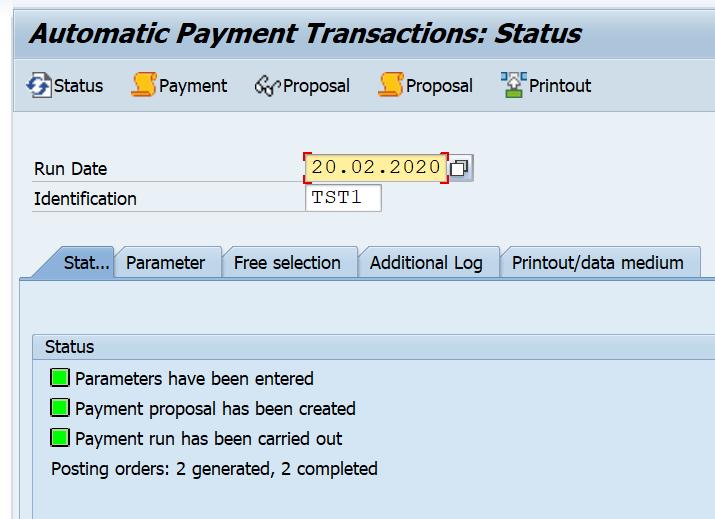 SAP F110 Payment Run Success
