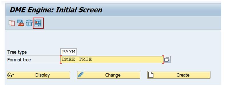 SAP DMEE Create Tree