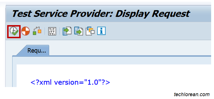 Test XML in SAP