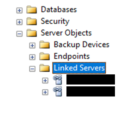 SQL Linked Servers Server Objects