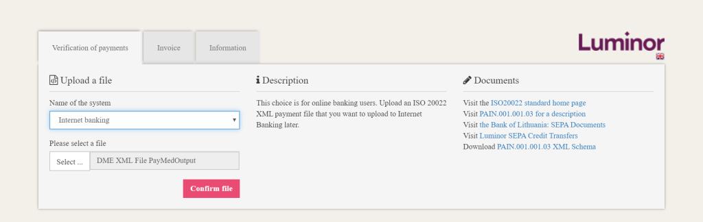 Banking XML Validation Tool DME SAP