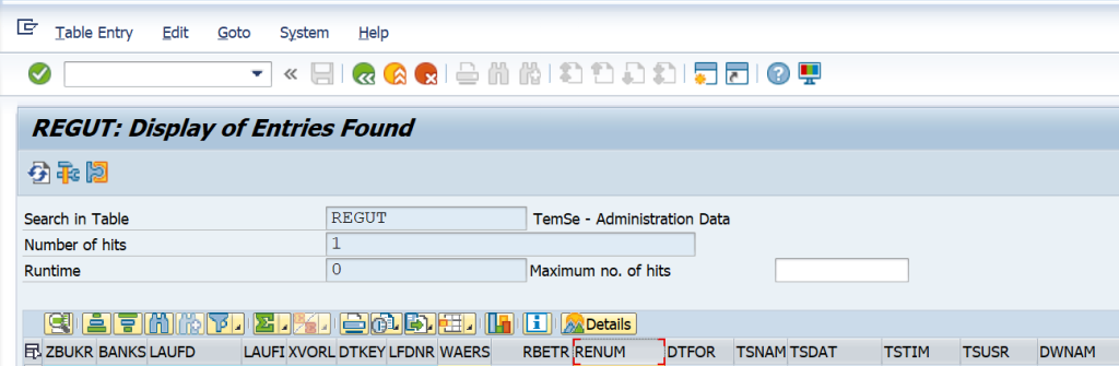 SAP DME Include Payment Reference Number REGUT RENUM
