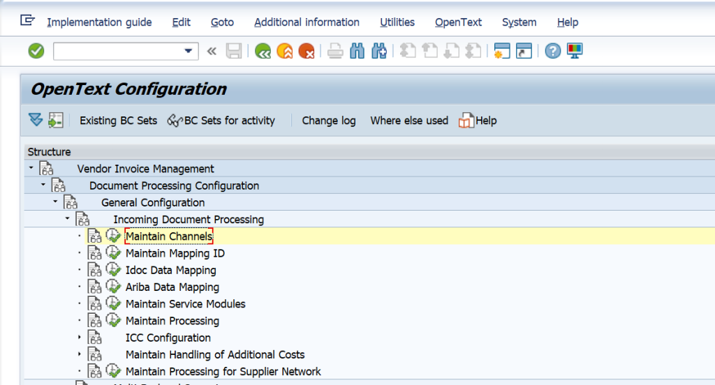 OpenText Customization /OPT/SPRO