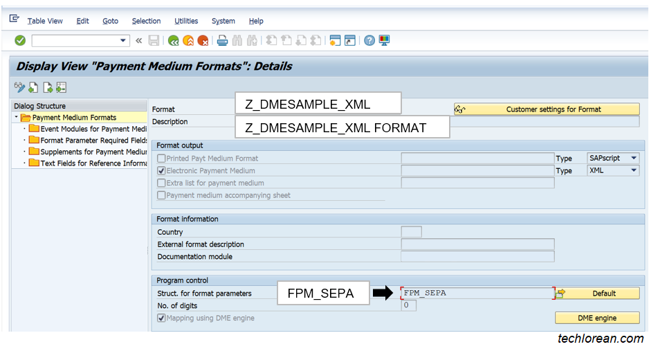 SAP DMEE Configuration OBPM1
