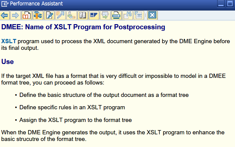 XLST Program for Postprocessing DMEE SAP