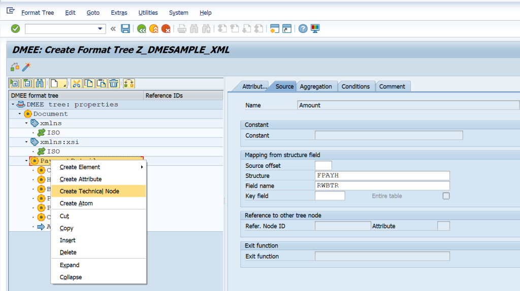 SAP DMEE Configuration TECHNICAL NODE