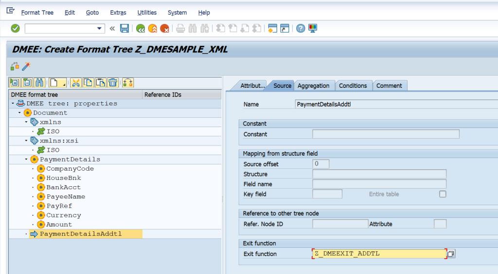 SAP DMEE Configuration TECHNICAL NODE EXIT MODULE