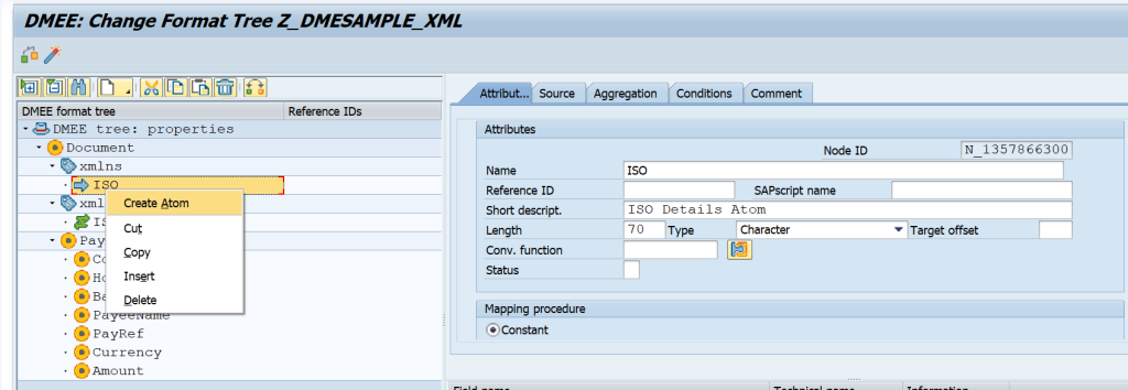 SAP DME XMLNS and XLMNS:XSI Formatting