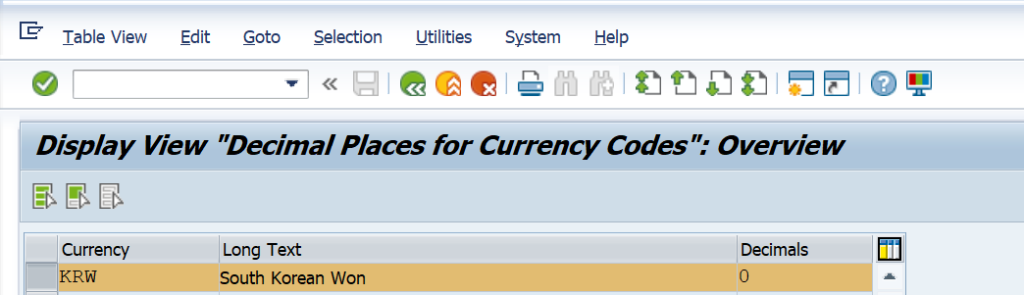 SAP Exchange Rate and Foreign Currency Valuation Detailed Process and Configuration - Currency Decimal OY04