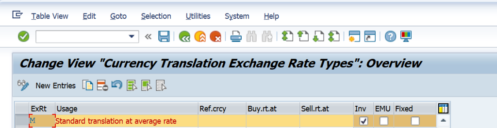 SAP Exchange Rate and Foreign Currency Valuation Detailed Process and Configuration - Exchange Rate Type OB07