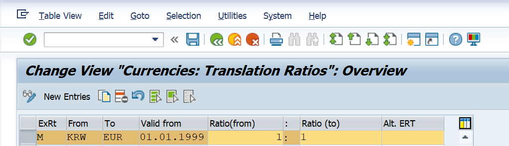 SAP Exchange Rate and Foreign Currency Valuation Detailed Process and Configuration - Currency Translation Ratio OBBS