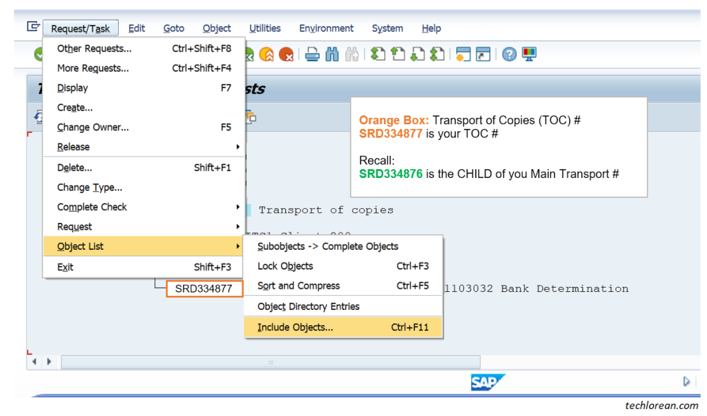 How to Create Transport of Copies (TOC) in SAP. Include Objects. Parent and Child Transport. What is a Child Transport Number.