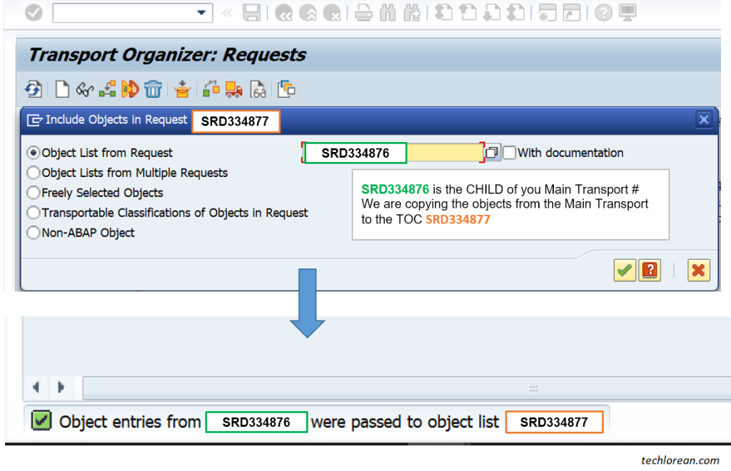 How to Create Transport of Copies (TOC) in SAP. Parent and Child Transport. What is a Child Transport Number