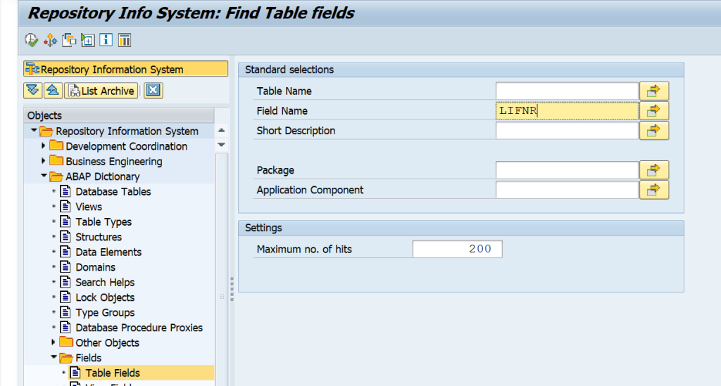 SAP Detailed Guide on How to Derive the Table-Field for Functional Specifications and Other Purposes. Is there a way to do find all tables involved for a certain field?