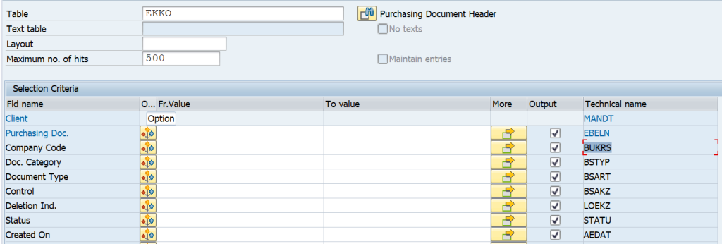 SAP Detailed Guide on How to Derive the Table-Field for Functional Specifications and Other Purposes