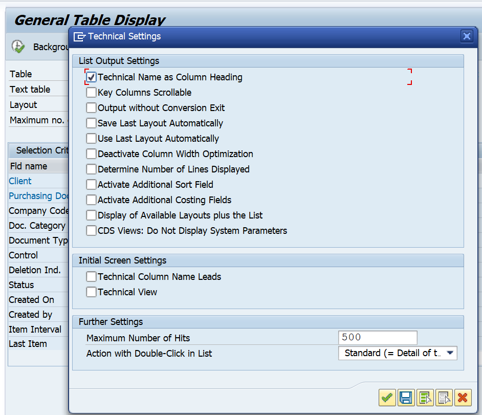 SAP Detailed Guide on How to Derive the Table-Field for Functional Specifications and Other Purposes. Technical Name as Column Heading SE16N