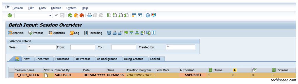 LSMW for Beginner Functional SAP Consultants – Detailed Step by Step Procedure (Batch Input Session)