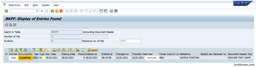 Utilizing CDHDR and CDPOS SAP Tables for Change Logs BKPF
